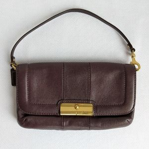 Coach Clutch or Wristlet in Dark Brown Leather